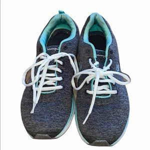 Champion Running Sneaker Gray and Mint Green